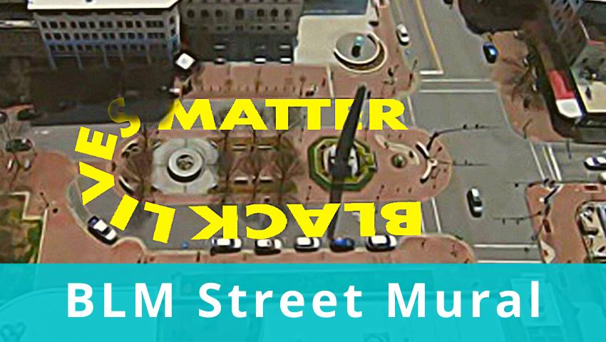 BLM Street Mural