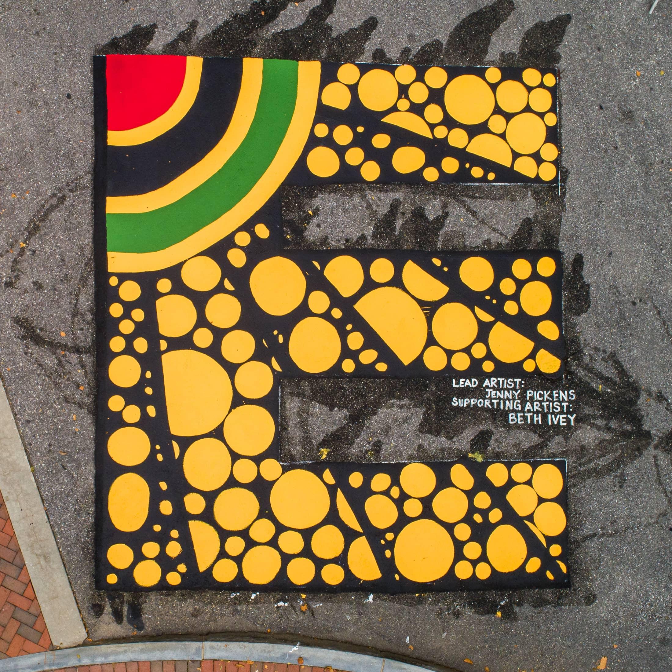 AVL BLM Mural- E
