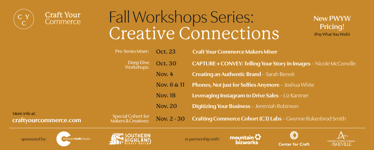 Craft Your Commerce Fall Classes